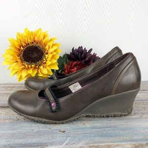 Merrell Petunia Mary Jane Wedge in Espresso Brown